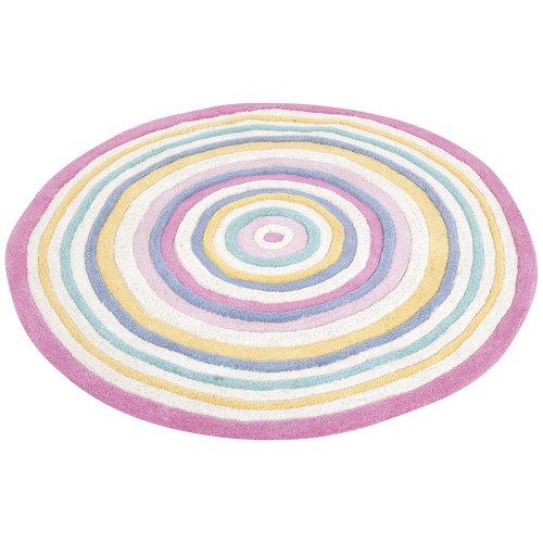 JoJo Maman Bebe Circle Rug, Pastel Stripe, X-Large - 1