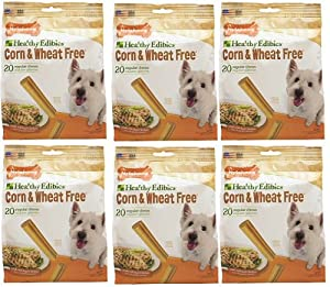 Nylabone Corn Free/Wheat Free Heart w/Real Chicken 120ct 3.7