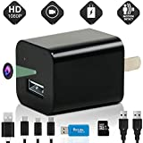 Best Spy Surveillance Camera / Cameras - Hidden Cam for Home Security - Nanny - Baby - Pet - Motion Detection / Mini USB Wall Phone Charger / HD Video 1080P - Indoor Recording System with 32GB SD Card