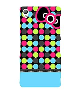 Color Dots Girl 3D Hard Polycarbonate Designer Back Case Cover for Sony Xperia Z3 :: Sony Xperia Z3 D6653 D6603