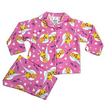 Disney Pyjama d'hiver rose Fée Clochette: Vêtements et