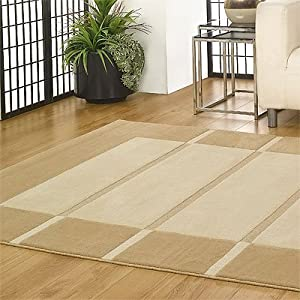 Flair Rugs Visiona Soft 4311 Rug, Beige/Cream, 120 x 170 Cm by Flair Rugs