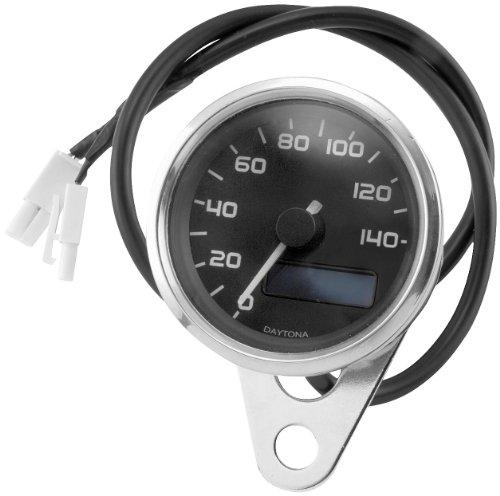 Electronic Speedometer, Manufacturer: Bikers Choice, Blk Electrnc Speedo W/Blue Lcd