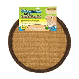Ware Manufacturing Cattachment Sisal Scratch and Sleep Cat Mat, Fits 14-Inch