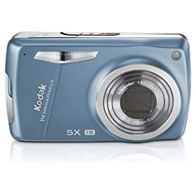 Kodak EasyShare M575 14MP Digital Camera with 5x Wide Angle Optical Zoom and 3.0 Inch LCD (Lake Blue)