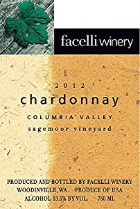 2012 Facelli Winery Sagemoor Vineyard Chardonnay 750 mL