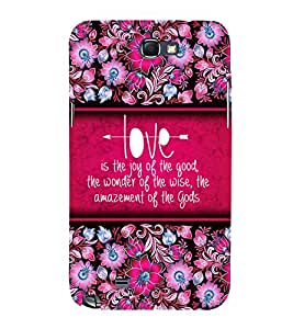 Love Is Joy 3D Hard Polycarbonate Designer Back Case Cover for Samsung Galaxy Note 2 :: Samsung Galaxy Note 2 N7100