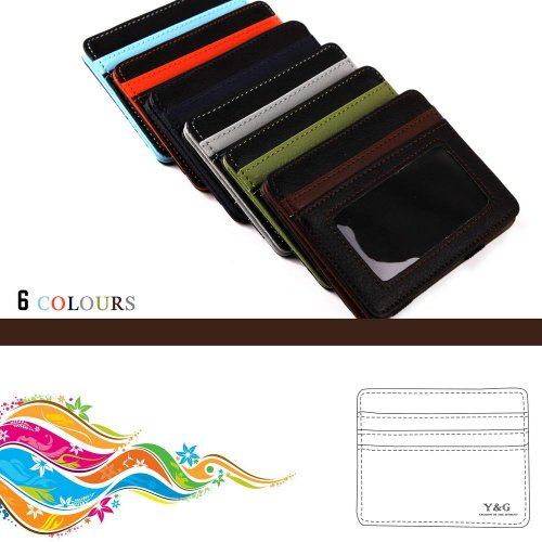 Black Fashion Magic Wallet and credit/ID case holder fathers gift 5 card hold 6 color available By Y&G YCM0201