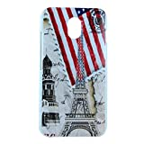 Exclusive Design For HTC Desire 210 Hard Back Case Cover - Flag Tower