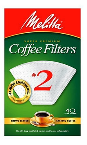 Melitta 622704 40 Count #2 White Cone Coffee Filters [Misc.] [Misc.]