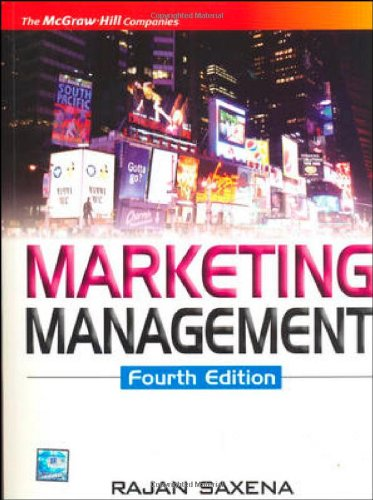 Marketing Management, 4th Edition, by Rajan Saxena