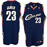 Lebron James Cleveland Cavaliers Adidas Swingman Navy Blue Jersey (Small) Amazon.com