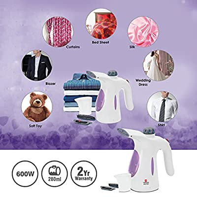Cello 600-Watt Garment Steamer (White/Purple)