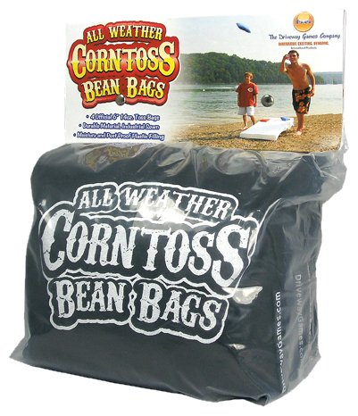 Driveway Games All Weather Corntoss Bean Bags Black - 4 Pack