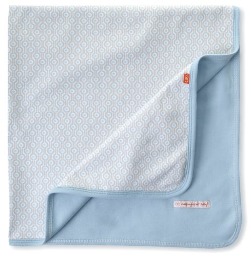 Magnificent Baby-Boys Newborn Reversible Blanket, Blue Mod Dots, One Size