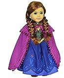 Ebuddy Ice and Snow Sparkle Princess Dress Fits 18 Inch Girl Doll