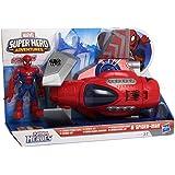 Playskool - A5662E240 - Jouet De Premier Age - Spider-Man - Spider Jet & Figurine - 12,5 Cm