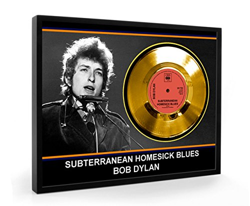 Bob Dylan Subterranean Homesick Blues Framed Disco d'oro Display Vinyl ( C1 )