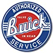 "Buick Service Round Tin Sign 11.75"" Dia."