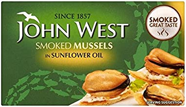 John West Smoked Mussels in Sunflower Oil 85g - Pack of 2