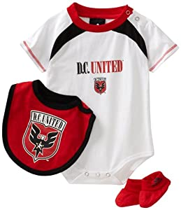 MLS DC United Bib & Bootie Set (White, 12mo)