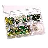 """KnorrPrandell 6049440 Sortimentsbox Glasperlen, 11.5 x 7.5 x 2.5 cm, gr�nvon """"Knorr Prandell"""""""
