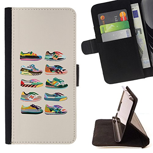 Generic / PELLE FLIP CUSTODIA CASE PROTEZIONE COVER per Lenovo Moto Z FORCE (NOT FOR MOTO Z)) - Scarpe Sneakers Fashion Design beige Grafico