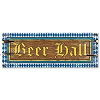 Beer Hall Sign Party Accessory (1 count) by Beistle