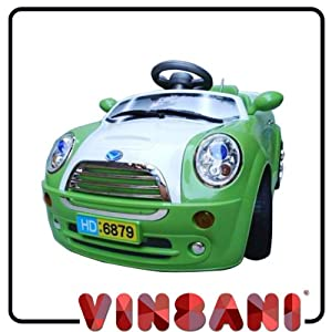Green Kids Mini Ride on Electric Remote Car