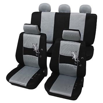 2XL-G Grau Universal Auto schonbezug Set Sitzbezüge für OPEL MOKKA Kunstleder