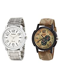 Relish Analog Round Casual Wear Watches For Men Combo - B01ANCDFF6