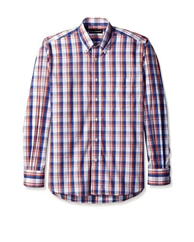 Kenneth Gordon Men's Multi Plaid Button Down Sportshirt