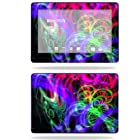 Mightyskins Protective Skin Decal Cover for Asus Transformer TF300 10.1 inch screen tablet stickers skins Neon Splatter