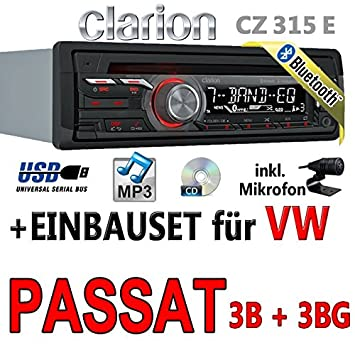 VW passat 3B 3BG autoradio clarion cZ315E-kit bluetooth