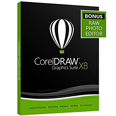CorelDRAW Graphics Suite X8 - Amazon Exclusive - Includes RAW Photo Editor