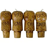 Novelty Lifesize Champagne Cork Candles ~ set of 4