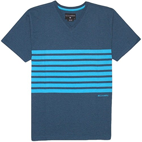 Billabong Big Boys' Major Short Sleeve Crew Neck Top, Indigo Heather, Large front-737619