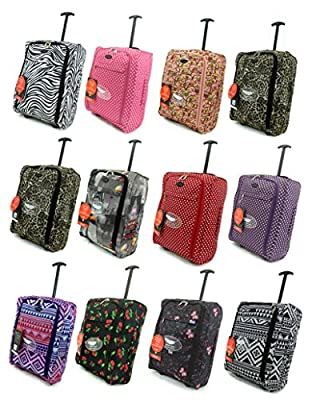 Super Lightweight Cabin Approved Luggage Travel Wheelie Bag suitcase Trolley Cabin Approved Case 50x40x20 Easyjet Ryanair