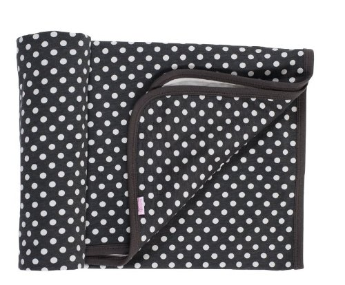 Boob Baby Blanket in Black Polka Dot