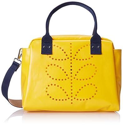 Orla Kiely Punched Stem Tarpaulin Zip Handbag