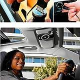 Solesyi 車載 用ワイヤレスBluetooth ポータブルスピーカー サンバイザー通話ス ピーカーホン(ブラック)