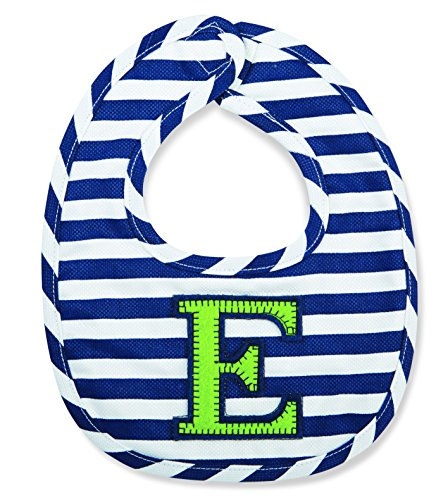Mud Pie Baby-Boys Newborn E Initial Boy Bib, Blue, One Size