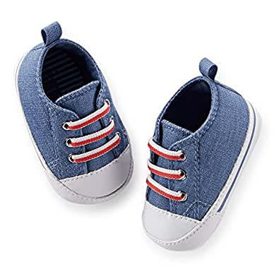 s baby boys chambray crib tennis shoes