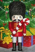 Nutcracker Christmas Garden Flag