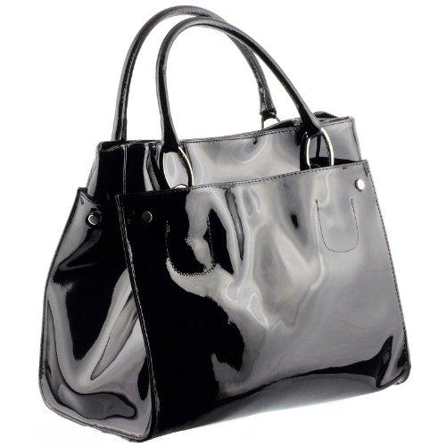 sac a main noir vernis pemberton. Black Bedroom Furniture Sets. Home Design Ideas