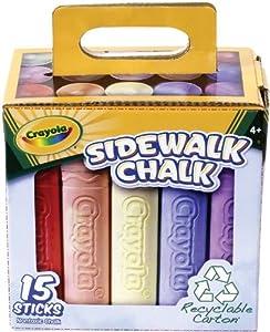 Crayola Sidewalk Chalk 15ct Tray