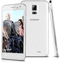 "DOOGEE VOYAGER2 DG310 Telefono Movil 3G Libre Con Pantalla de 5"" Pulgadas IPS Smartphone Android 4.4 Dual SIM Quad Core 1.3GHz de 1G RAM + 8G ROM GPS WIFI T-Mobile - Color Blanco"