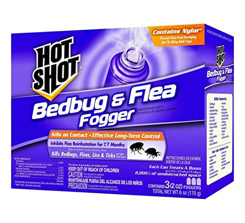 Hot Shot HG-95911 Bedbug & Flea Fogger Repellent 2 oz. (3 Pack) (Tabletop Fogger compare prices)
