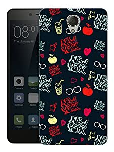"""Humor Gang New York Love Printed Designer Mobile Back Cover For """"Xiaomi Redmi Note 2"""" (3D, Matte, Premium Quality Snap On Case)"""