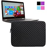 Evecase Premium Neoprene Zipper Sleeve Case Travel Carrying Storage Computer Bag for Lenovo 13.3'' 14'' Ultrabook: Yoga 3 Pro, Yoga 2 Pro 13; IdeaPad Yoga 13, ThinkPad X1 Carbon (2014), Y40-70 Laptop - Black
